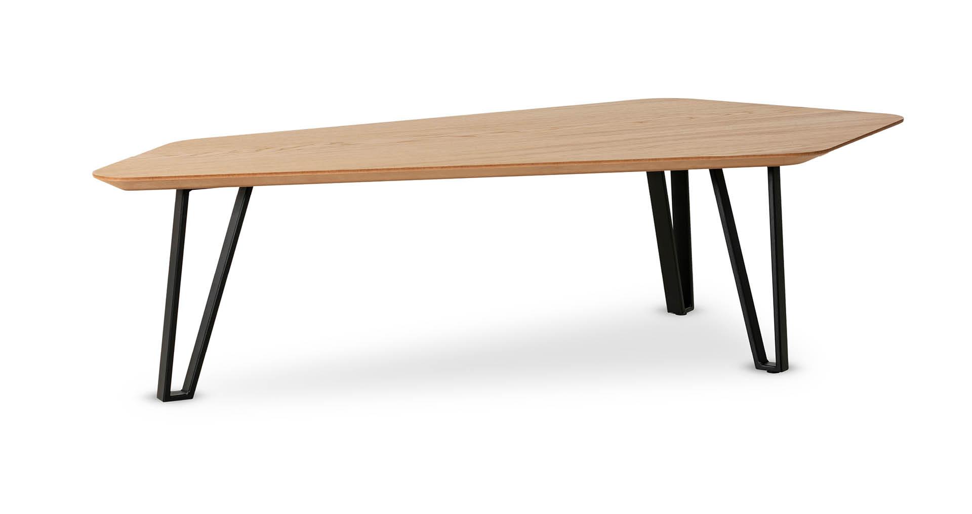 """שולחן סלון נואר 133 ס""""מ בגוון אלון טבעי"""