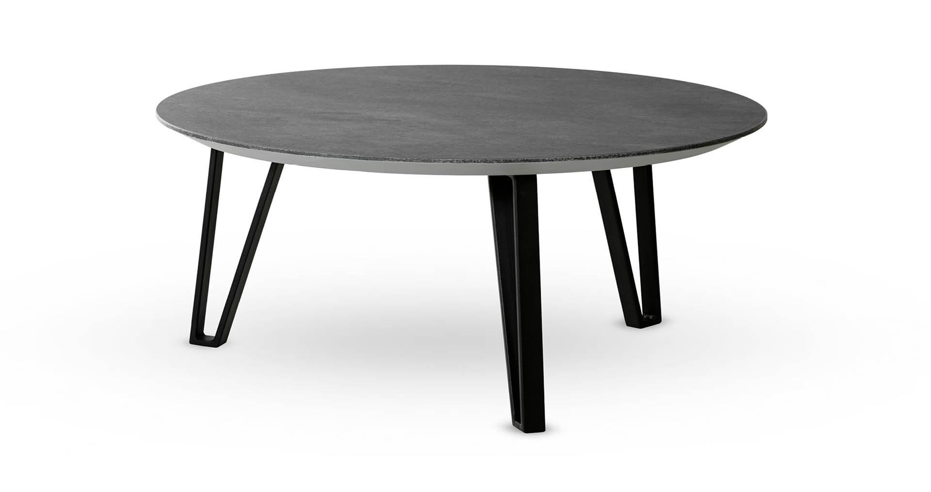 """שולחן סלון נואר 80 ס""""מ בגוון אפור צפחה"""