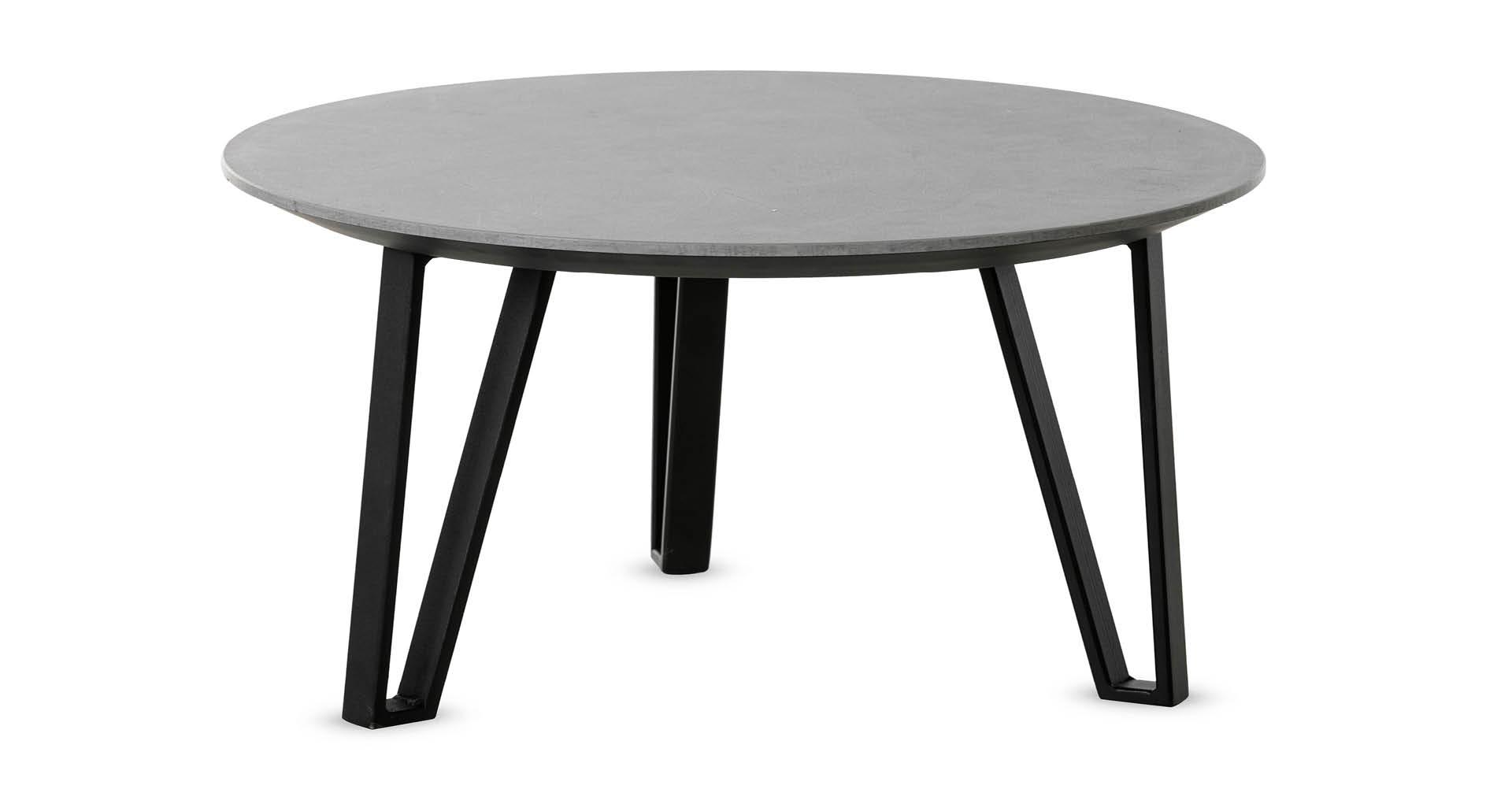 """שולחן סלון נואר 60 ס""""מ בגוון קליי סטון"""