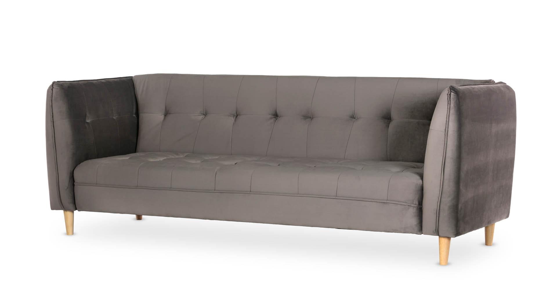 """ספה מיטה יונה 235 ס""""מ בגוון אפור רודיום"""