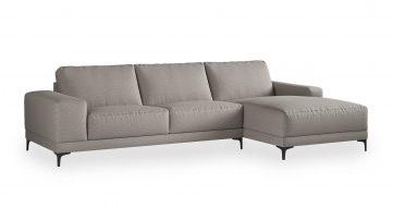 """ספה פינתית ואלרי צד ימין 310 ס""""מ בגוון גרייז' אויסטר"""