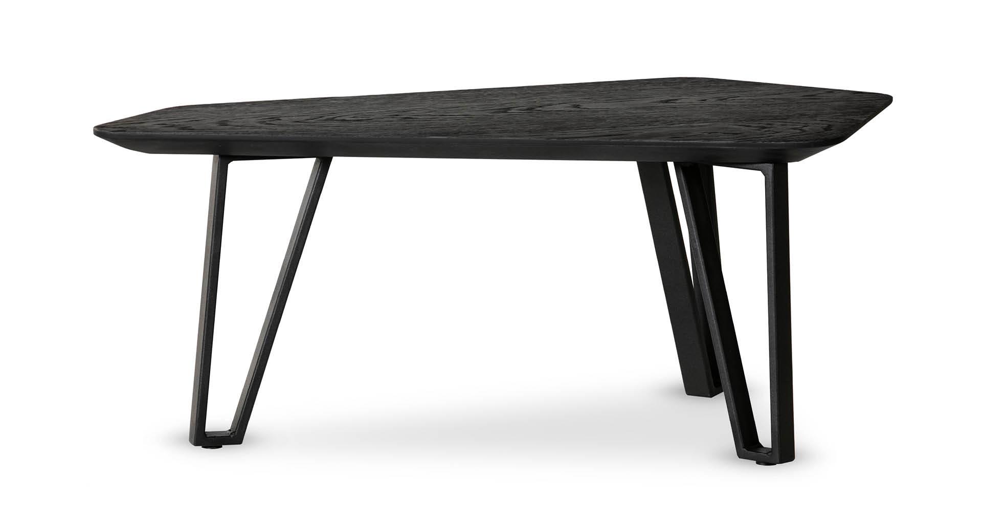 """שולחן סלון נואר 77 ס""""מ בגוון שחור"""