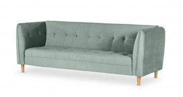 """ספה מיטה יונה 235 ס""""מ בגוון תכלת אקווה"""