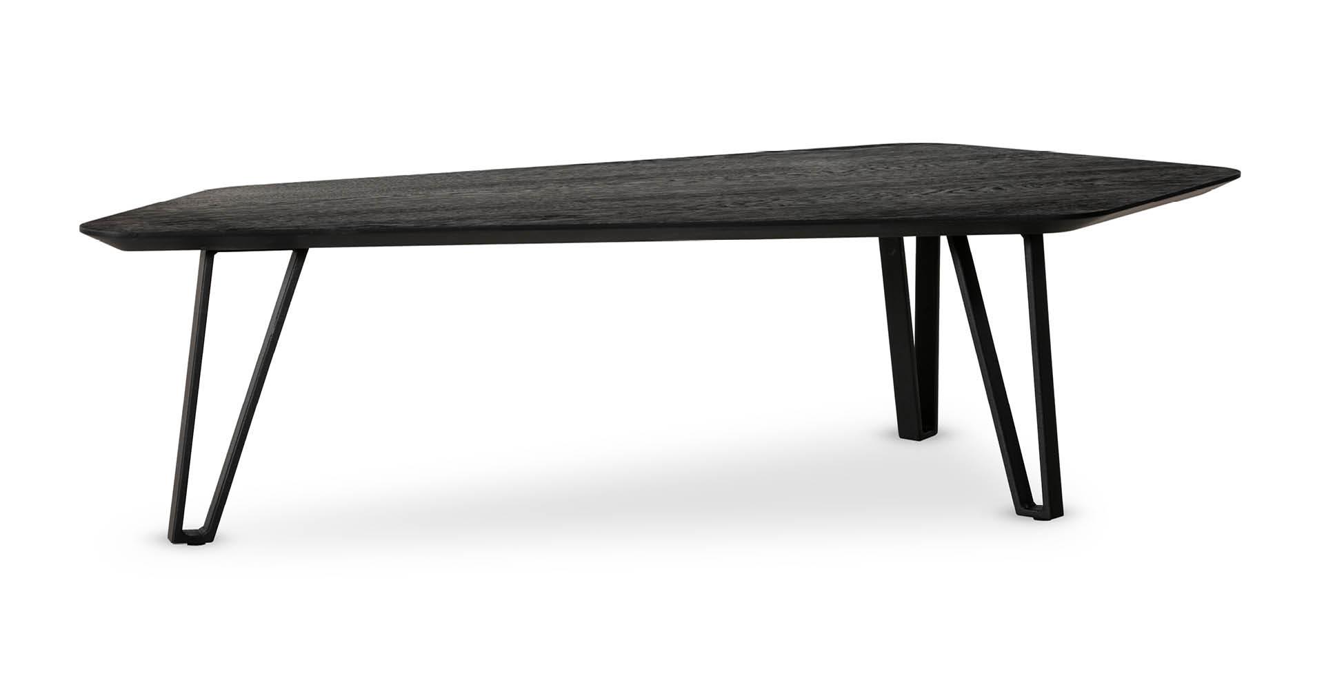 """שולחן סלון נואר 133 ס""""מ בגוון שחור"""