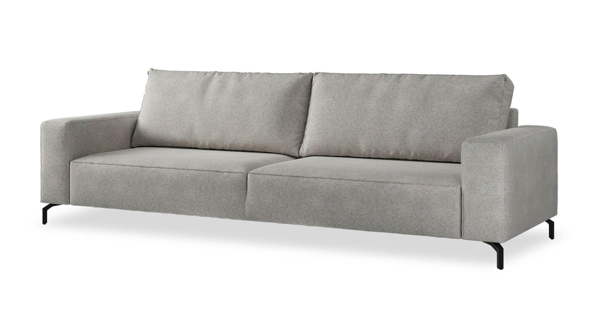 """ספה לנדו 295 ס""""מ בגוון גרייז' פורטובלו"""