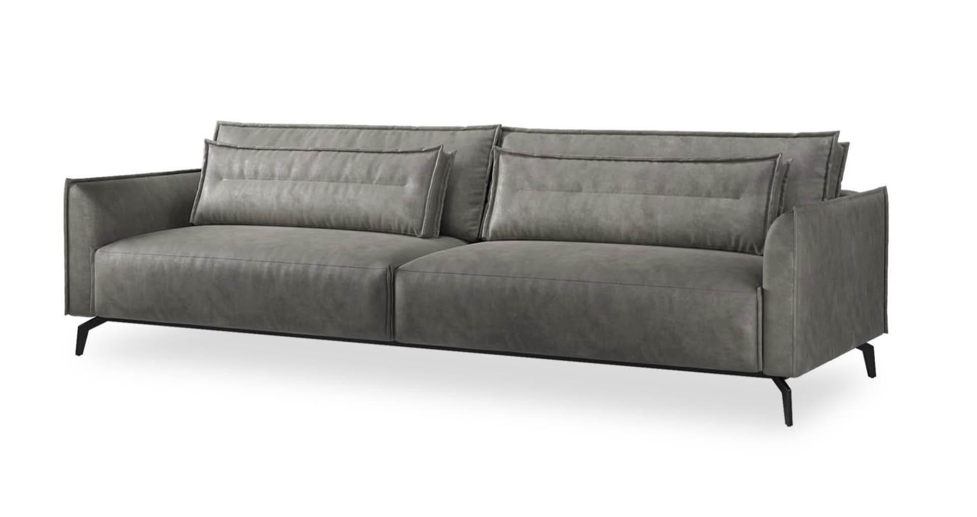 """ספה קרט 295 ס""""מ בגוון אפור פלדה"""