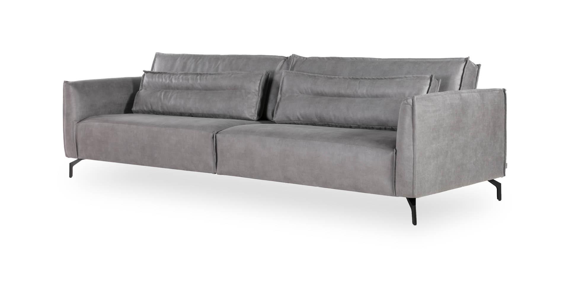 """ספה קרט 295 ס""""מ בגוון אפור אוורירי"""