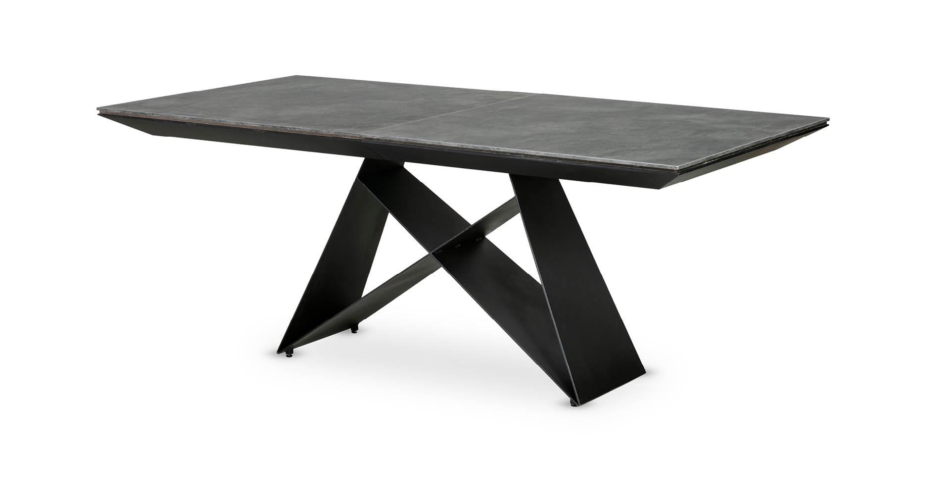 """שולחן אוכל לופט נפתח 200 ס""""מ בגוון אפור צפחה"""