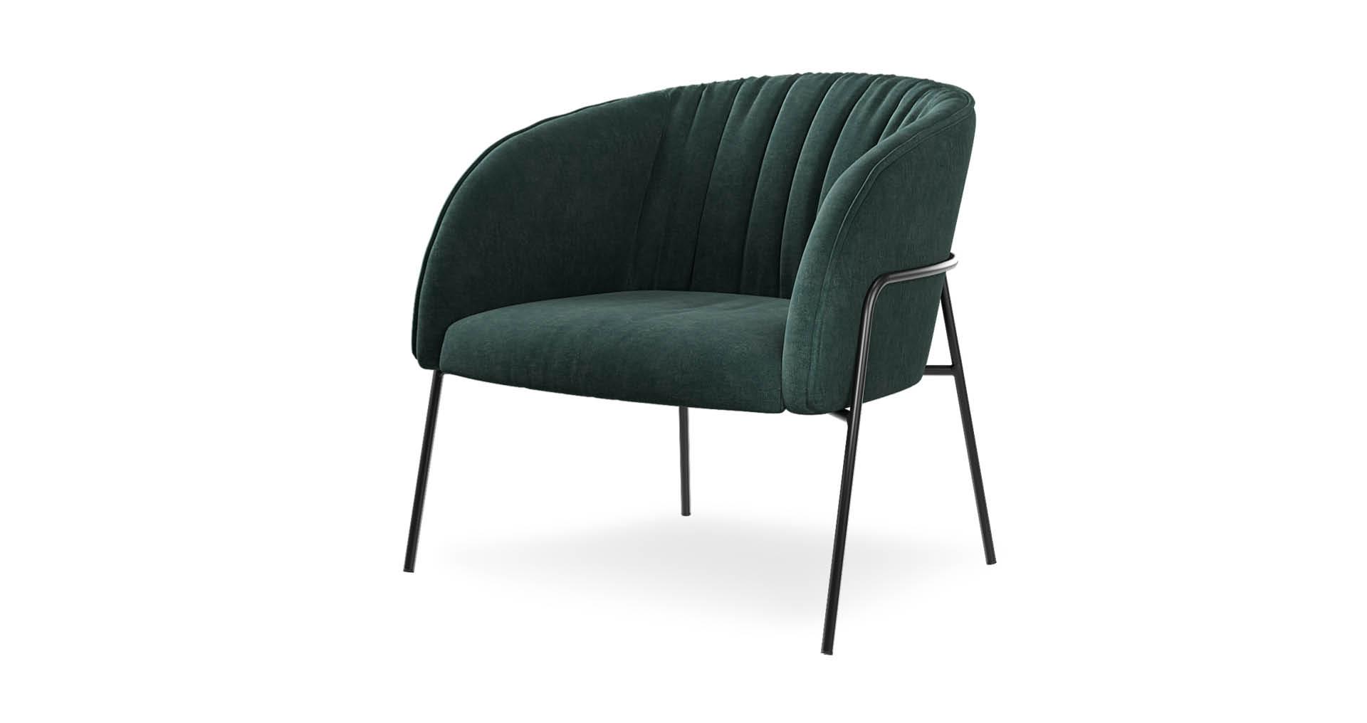 כורסא סקנדיה 200 בגוון ירוק אמרלד
