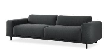 """ספה איטס 2000 250 ס""""מ בגוון אפור כהה"""
