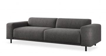 """ספה איטס 2000 250 ס""""מ בגוון אפור כרומטי"""