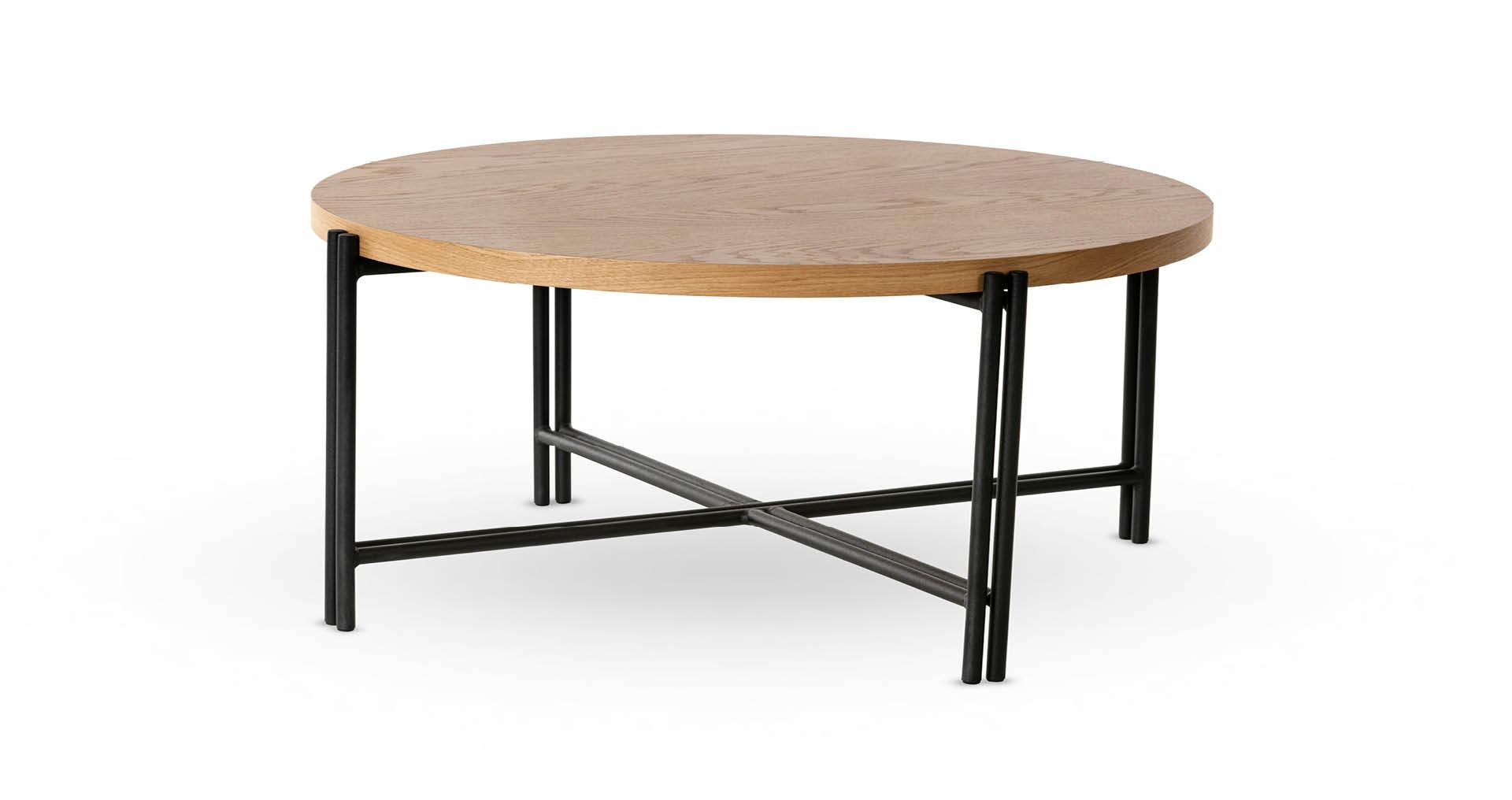 """שולחן סלון ברייטון 80 ס""""מ בגוון אלון טבעי"""