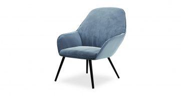 כורסא לוקה בגוון כחול טופז