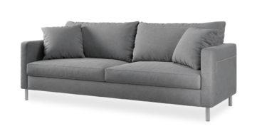 """ספה אניסטון 210 ס""""מ בגוון אפור נורדי"""