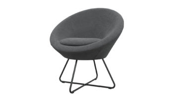 כורסא סנטר בגוון אפור גרפיט