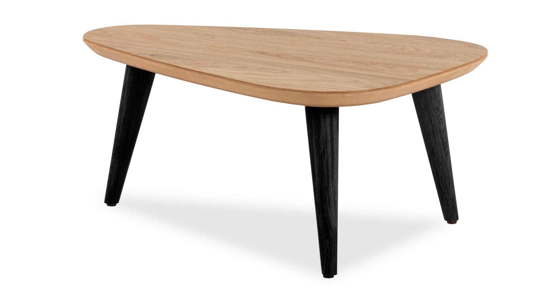 """שולחן סלון טיפה 72 ס""""מ בגוון אלון טבעי"""