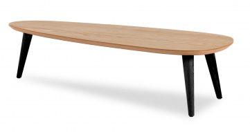 """שולחן סלון טיפה 120 ס""""מ בגוון אלון טבעי"""