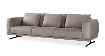 """ספה סופרנו 294 ס""""מ בגוון אפור טודורה"""