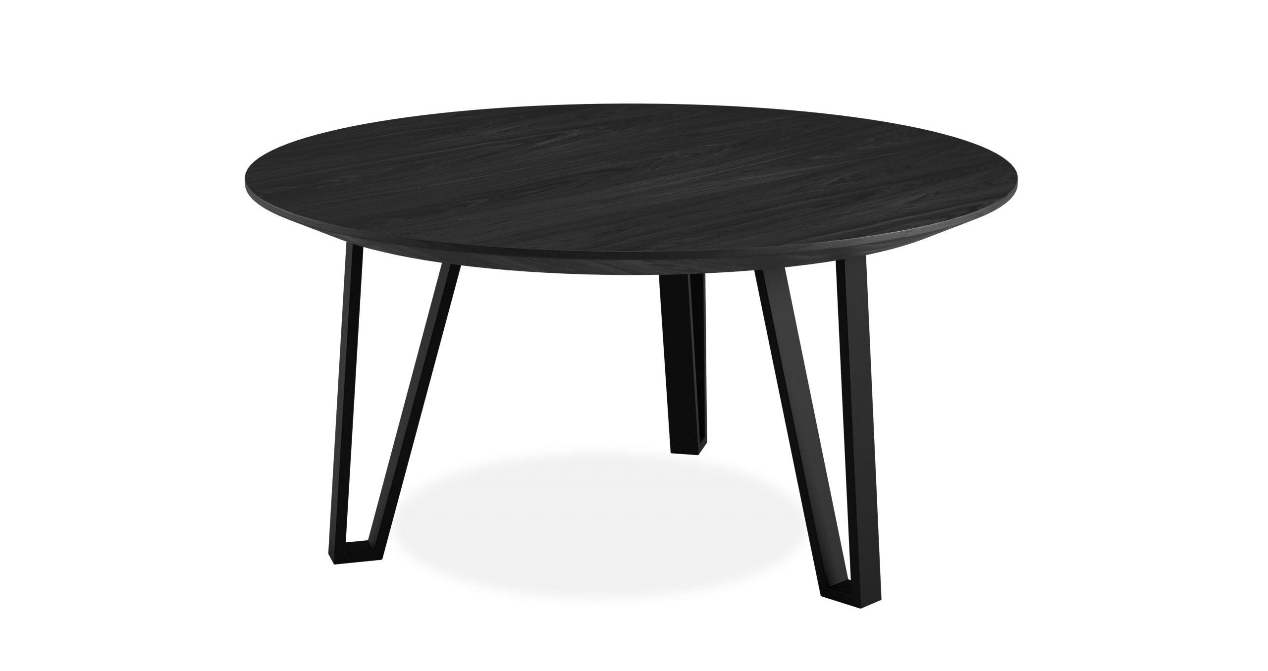 שולחן סלון נואר קוטר 70 בגוון שחור