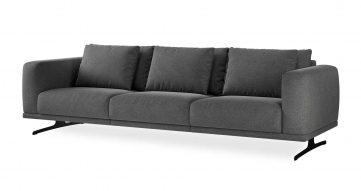 """ספה סופרנו 294 ס""""מ בגוון אפור לילי"""