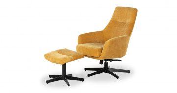 כורסא + הדום איזבלה בגוון חרדל סנסט