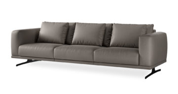 """ספה סופרנו 294 ס""""מ בגוון אפור מעושן"""