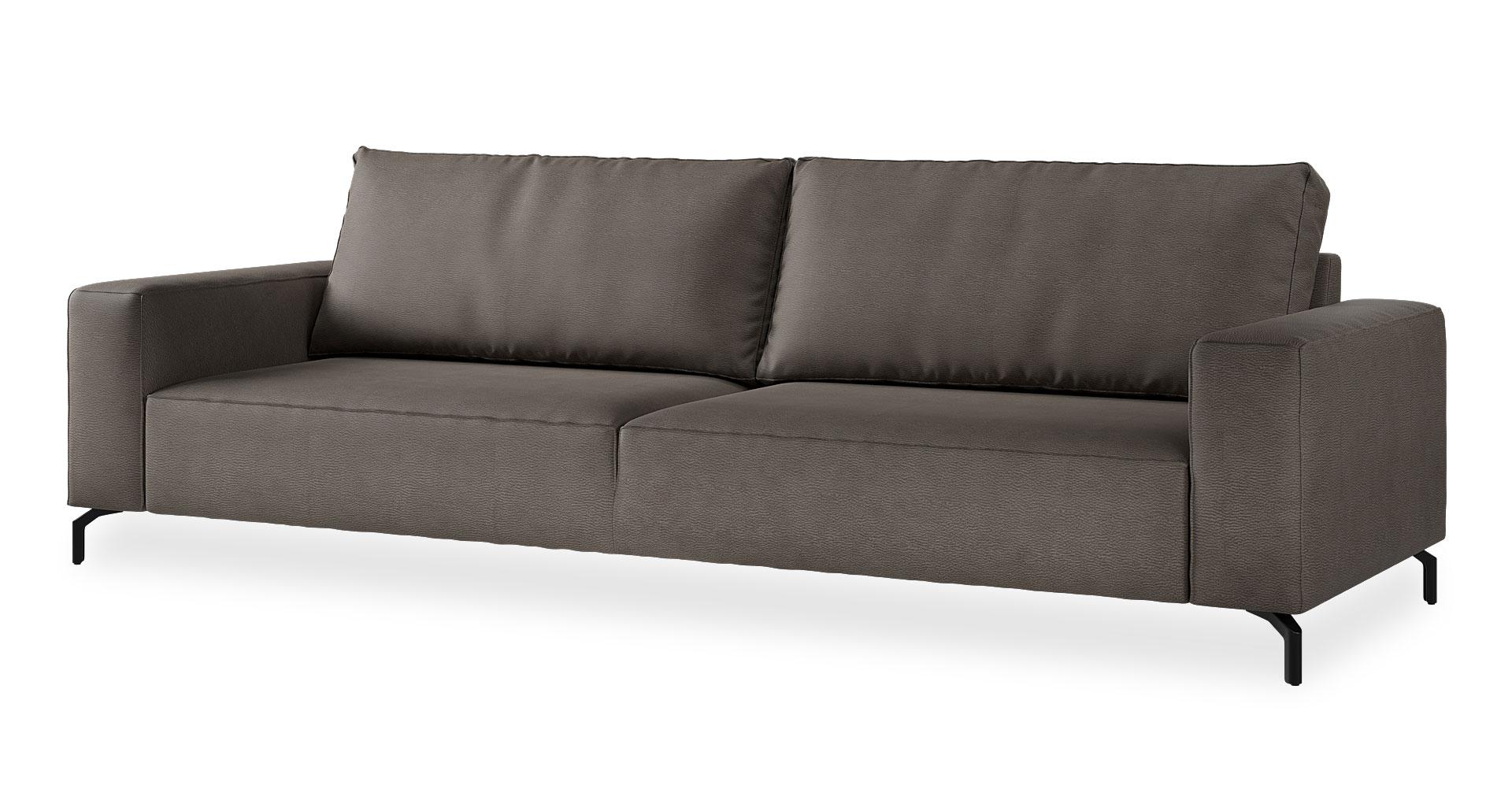 """ספה לנדו 295 ס""""מ בגוון אפור פיתון"""