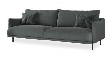 """ספה עדנה 245 ס""""מ בגוון אפור פטגוניה"""