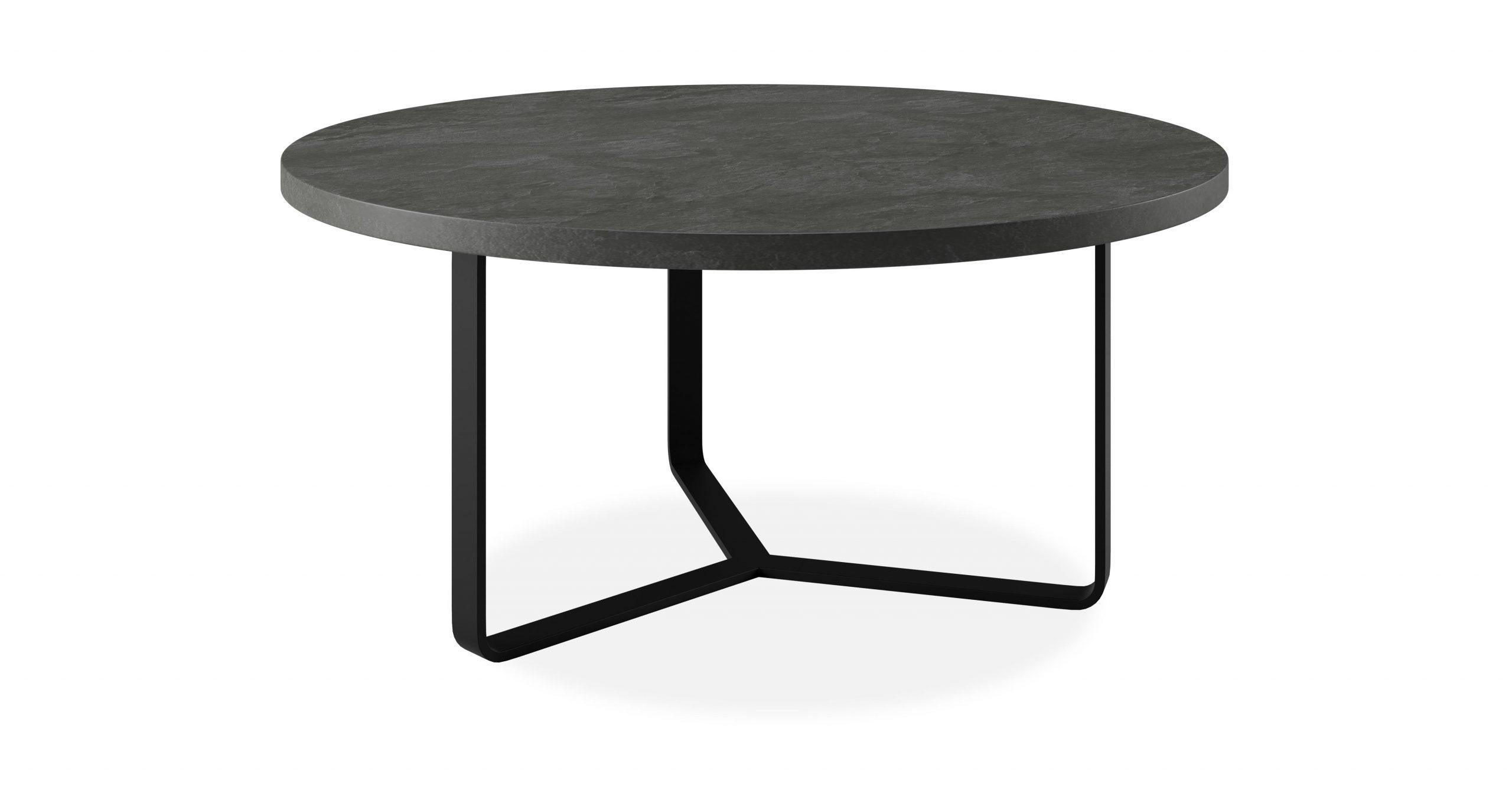 """שולחן סלון קומבי 90 ס""""מ בגוון אפור צפחה"""