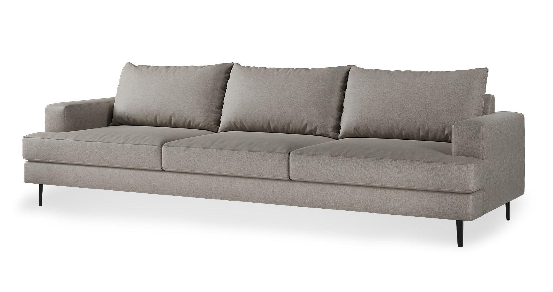 """ספה בוז'ולה 295 ס""""מ בגוון אפור טודרה"""