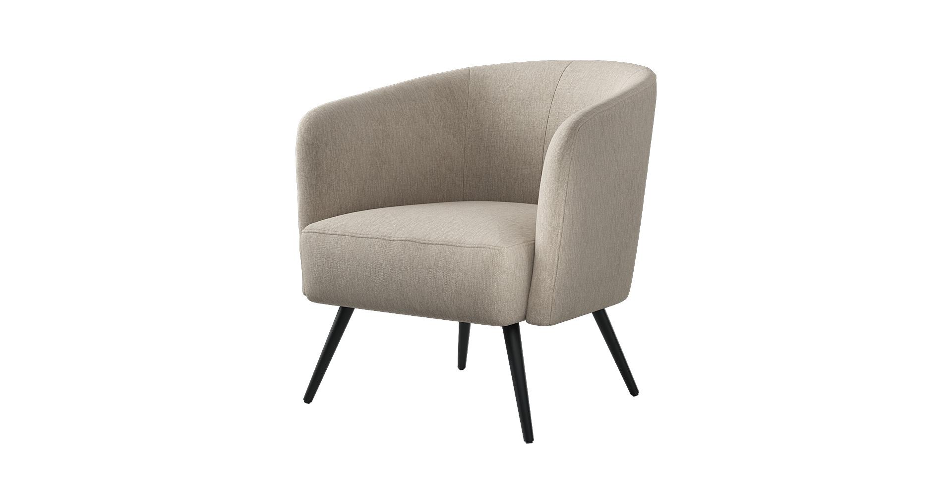 כורסא בארקלי בגוון שומשום בז'