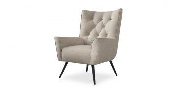 כורסא בודיבה בגוון  שומשום בז'