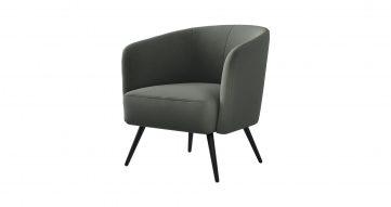 כורסא בארקלי בגוון ירוק אפרורי מעושן