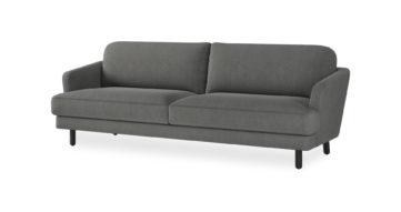 ספה יוקון תלת מושבית בגוון אפור כרומטי