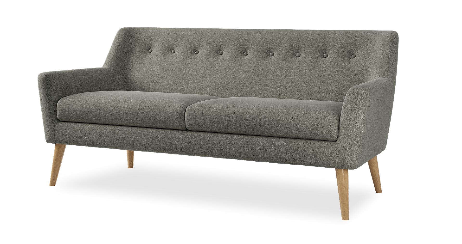 """ספה ויטה 181 ס""""מ בגוון אפור פיראני"""