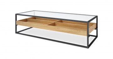 """שולחן סלון מאליבו 150 ס""""מ בגוון טבעי"""