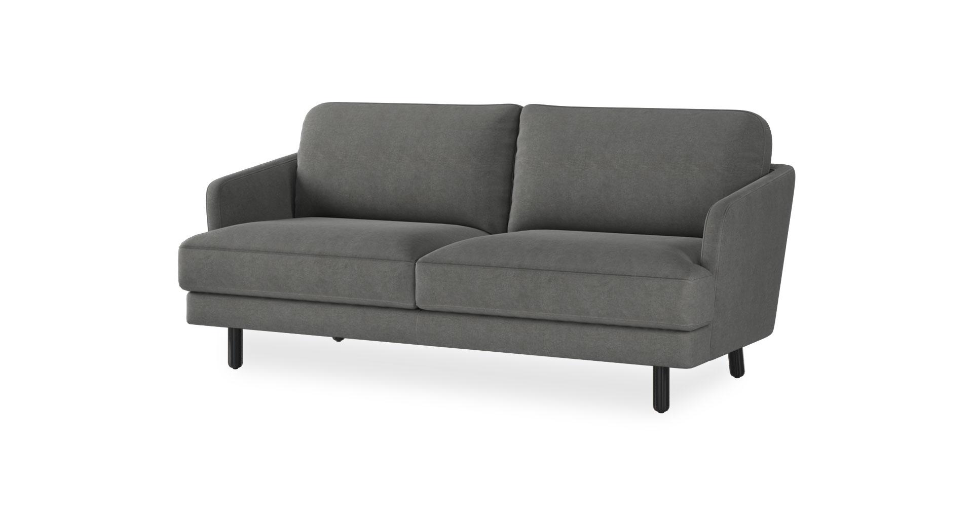 ספה יוקון דו מושבית בגוון אפור כרומטי