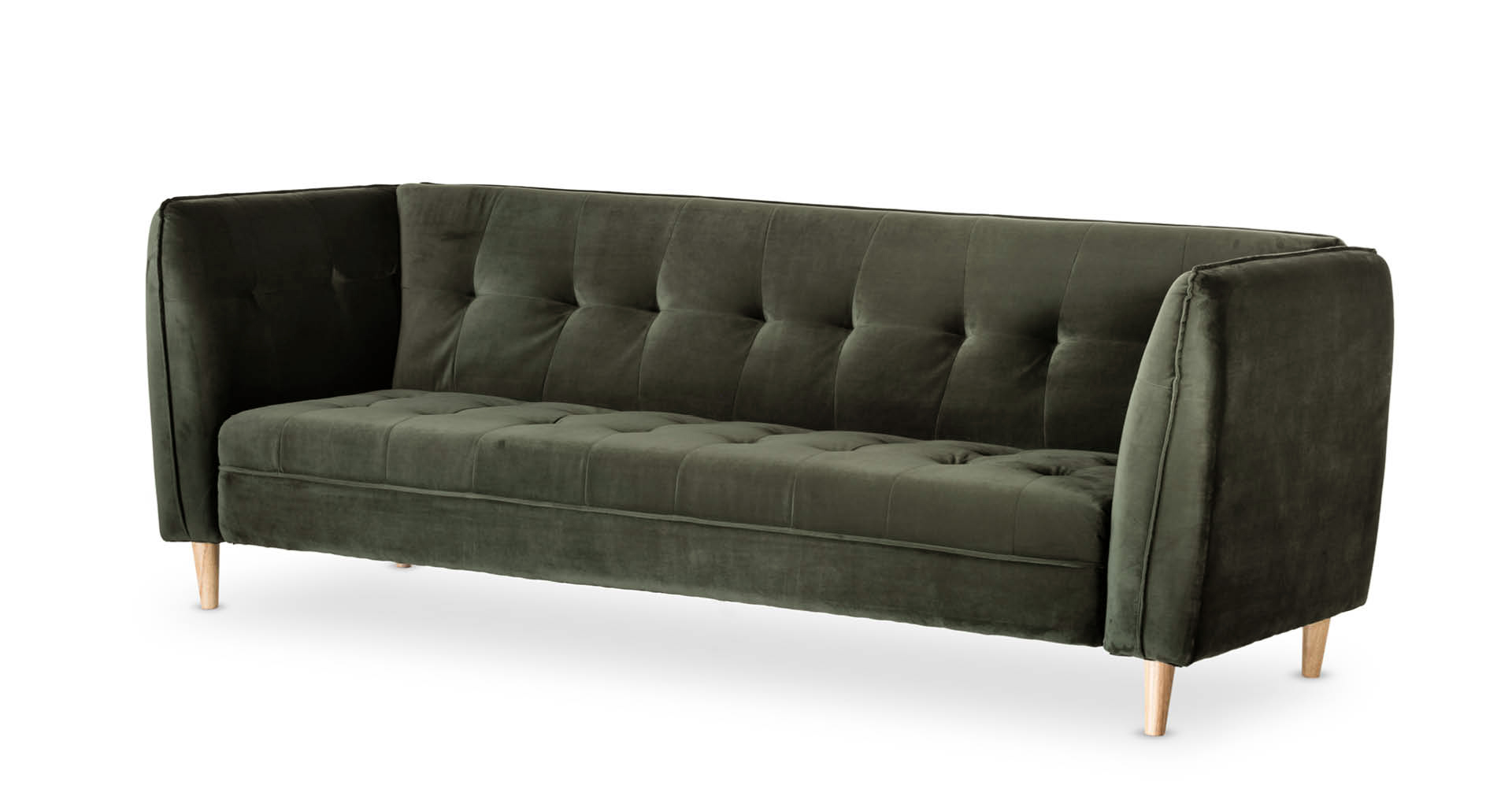 """ספה מיטה יונה 235 ס""""מ בגוון ירוק מעושן"""