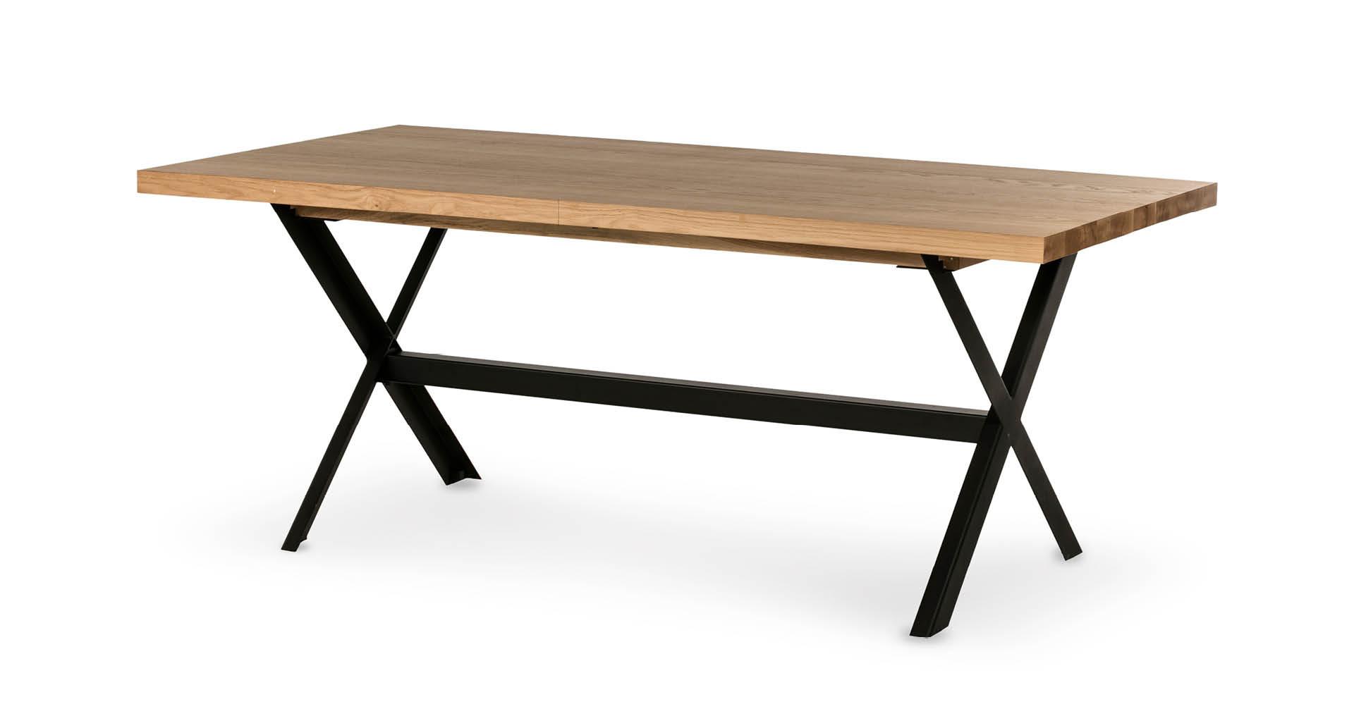 """שולחן אוכל פולו נפתח 160 ס""""מ בגוון אלון טבעי"""