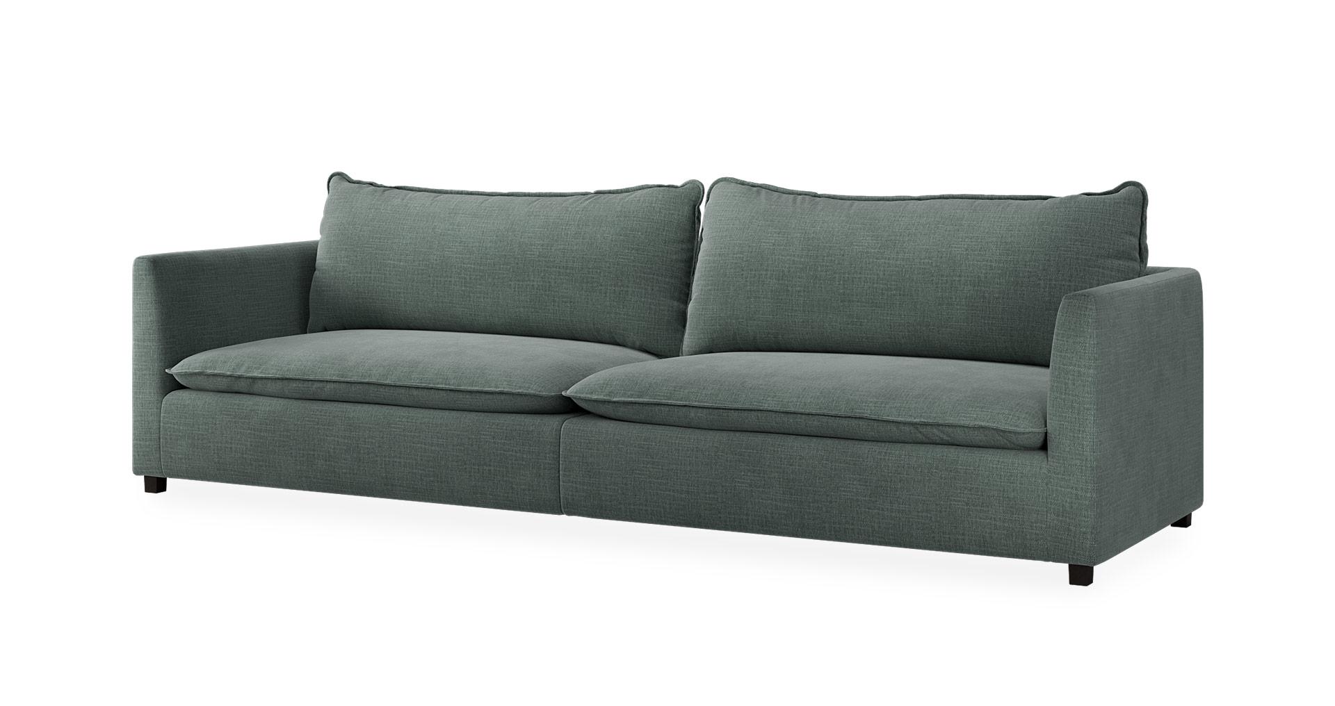 """ספה ורמונט 295 ס""""מ בגוון ירוק אקווה"""